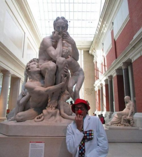 clowning in museum