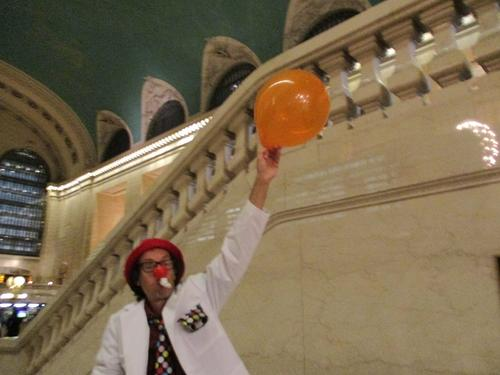 Clowning aournd Grand Central Termianl
