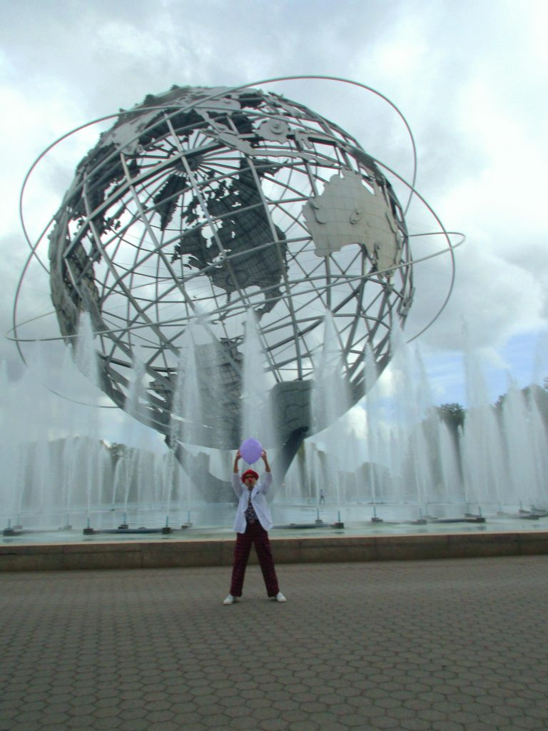 clowning around the unisphere